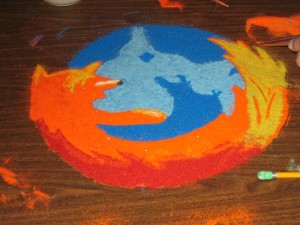 A sand mandala of our own, by myself, SIB, and Picone