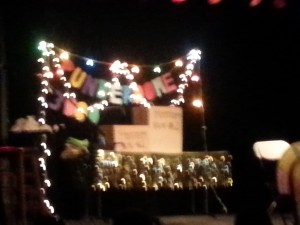 Terrible picture of the Punderdome stage.