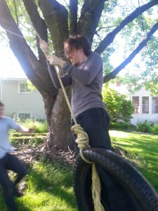 There was also a tire swing.