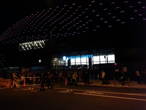 Barclays Center from outside, after the concert.