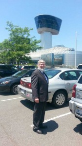 My dad in front of the NASM