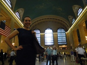 Greta at Grand Central Station.